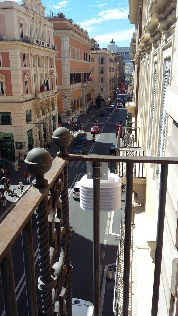 Fig.1: Uno dei 30 sensori posizionati nella città di Roma