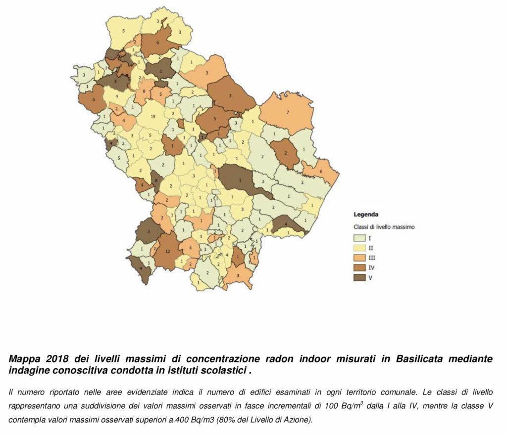 Basilicata mappatura radon edifici scolastici