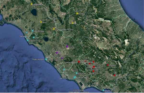 rete monitoraggio qualità dell'aria nel Lazio