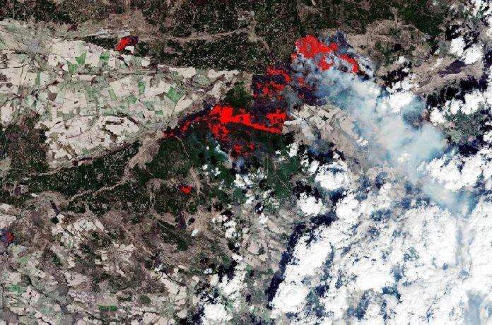 mappa incendi ESA