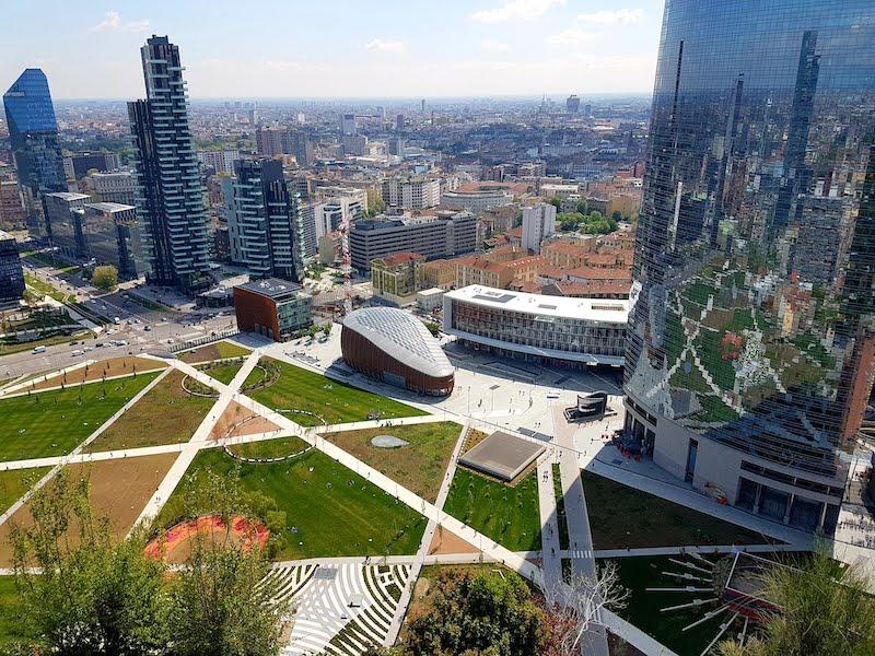 Vista dal bosco verticale - Milano