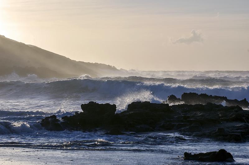 Burrasca. Mare in tempesta all'Argentiera
