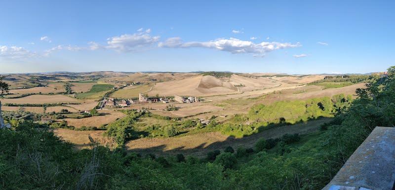Coltivazioni sui territori intorno a Tarquinia