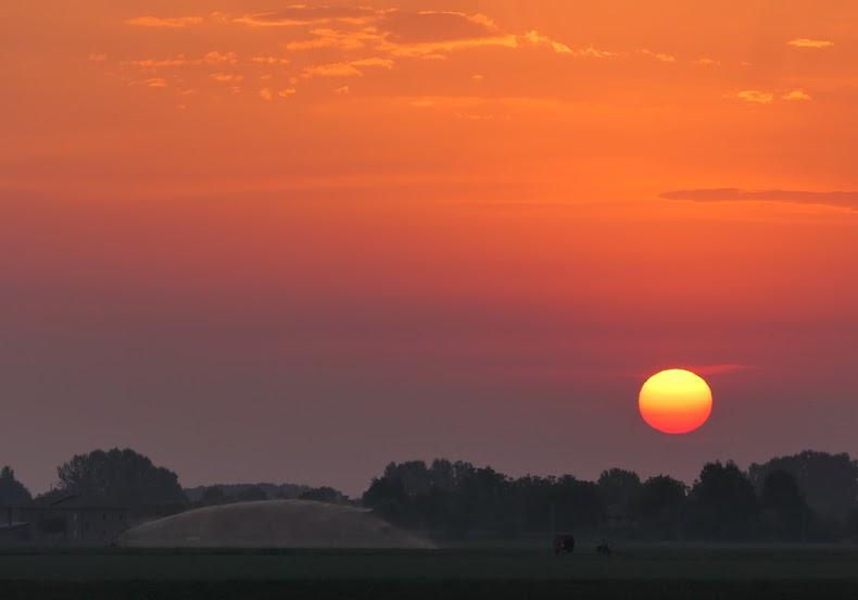 Irrigazione all'alba