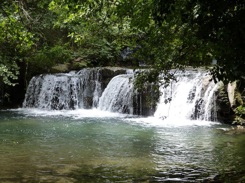 Le bellissime cascate di Monte Gelato