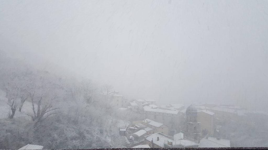 paesaggio innevato Sieti di Giffoni Sei Casali (Salerno)-