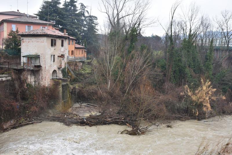 Dopo alluvione in fiume Savena
