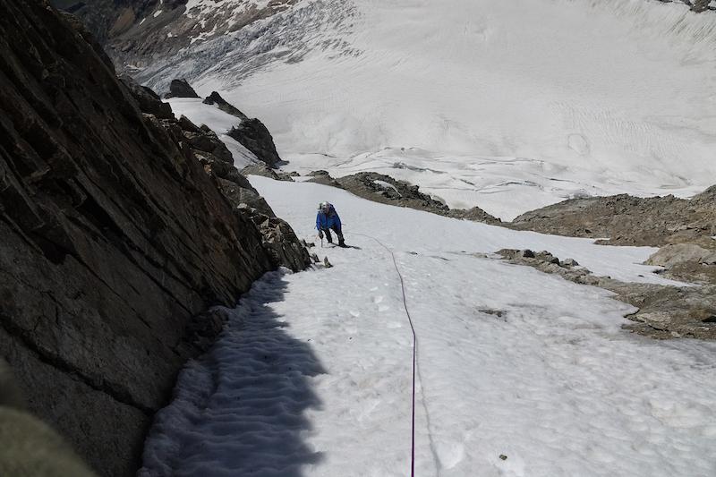 Verso la cima del Mont Dolent, m3820
