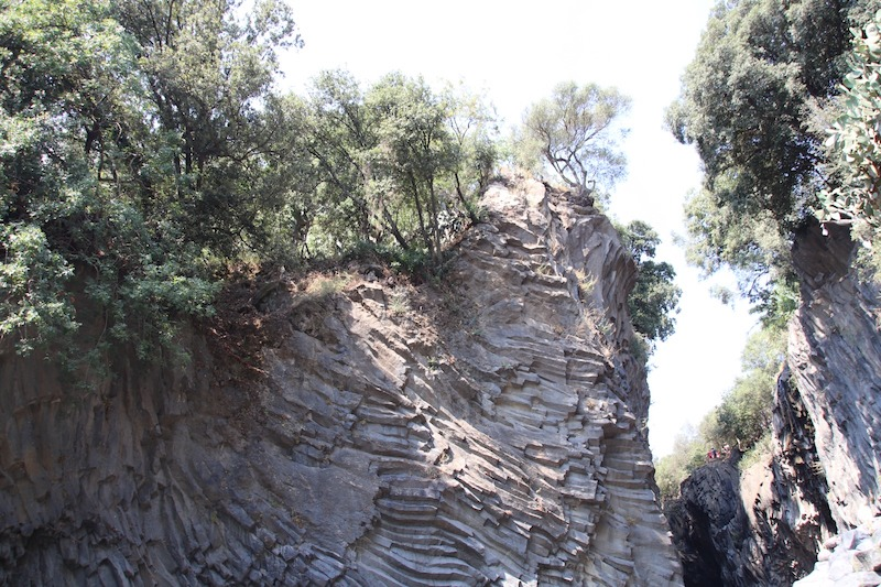 Rocce di lava solida, Gole dell' Alcantara (ME)