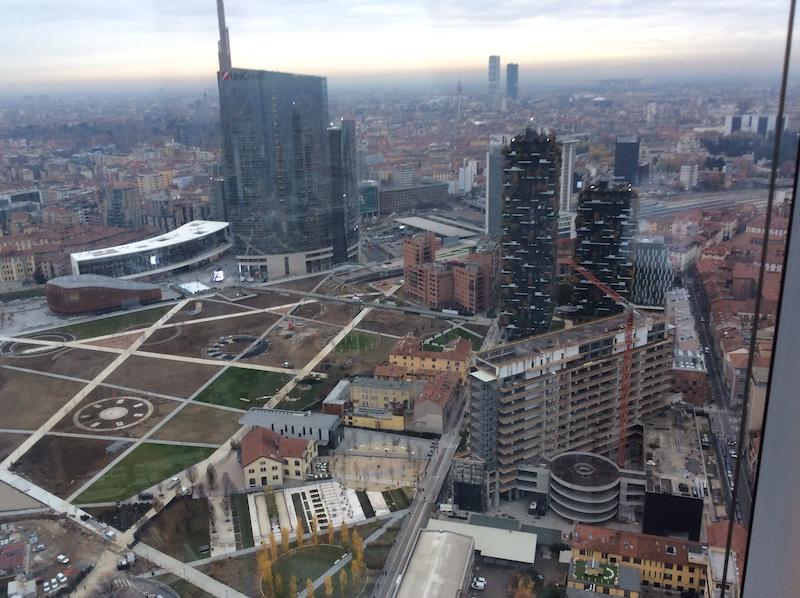 Milano vista dal palazzo della Regione