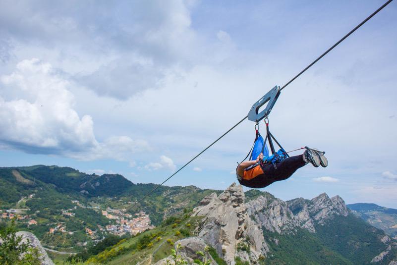 Tienimi sospeso (a mezz'aria almeno) - Volo dell'angelo - Castelmezzano (PZ)