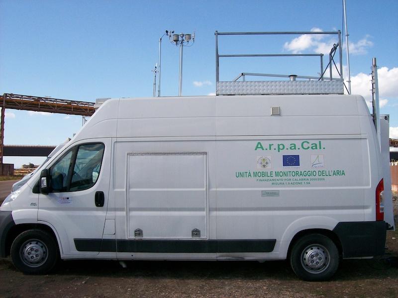 ARPACal laboratorio mobile monitoraggio aria
