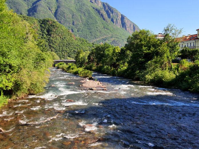 Il torrente Talvera nella conca di Bolzano